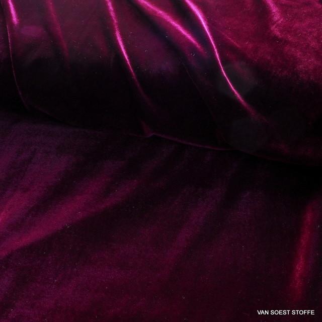 Stretch Samt in dunkel Magenta | Ansicht: Stretch Samt in dunkel Magenta