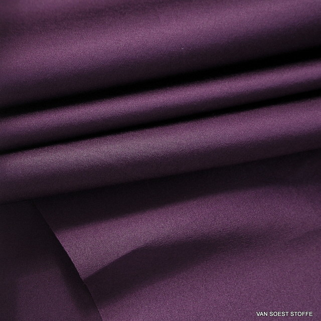 Stretch silk satin in dark purple / berry