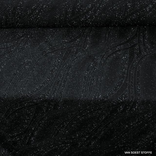 Stretch Slinky Paisley in Schwarz | Ansicht: Stretch Slinky Paisley in Schwarz