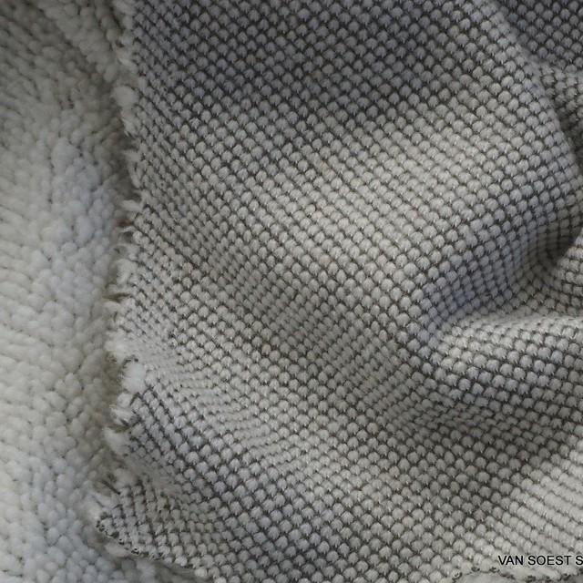 Stretch Strick Baumwollmischung als Sweat Pelz in Grau-Weiß | Ansicht: Stretch Strick Baumwollmischung als Sweat Pelz in Grau-Weiß