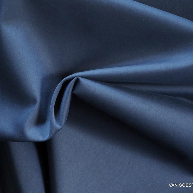 Stretch TENCEL™ - Baumwolle Mattsatin in Stahlblau | Ansicht: Stretch TENCEL® - Baumwolle Mattsatin in Stahlblau