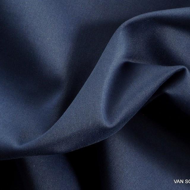 Stretch TENCEL™ - Baumwolle Mattsatin in Stahlblau | Ansicht: 1541 - Stretch TENCEL® - Baumwolle Mattsatin in Stahlblau
