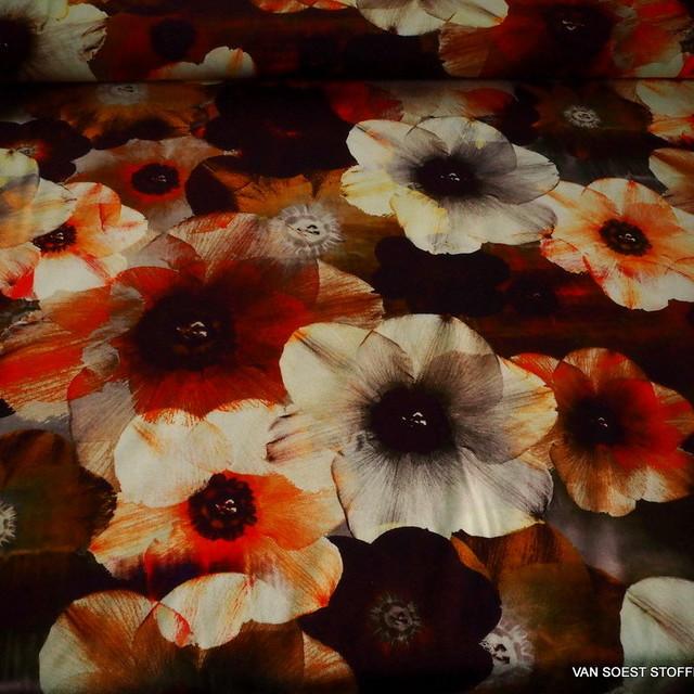 Stretch Viskose Krepp -Jersey mit tollem Blumendruck