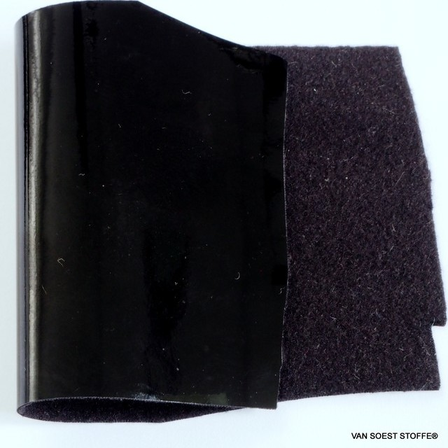 Stretch Wetlook Top Vinyl in Black with Black Side
