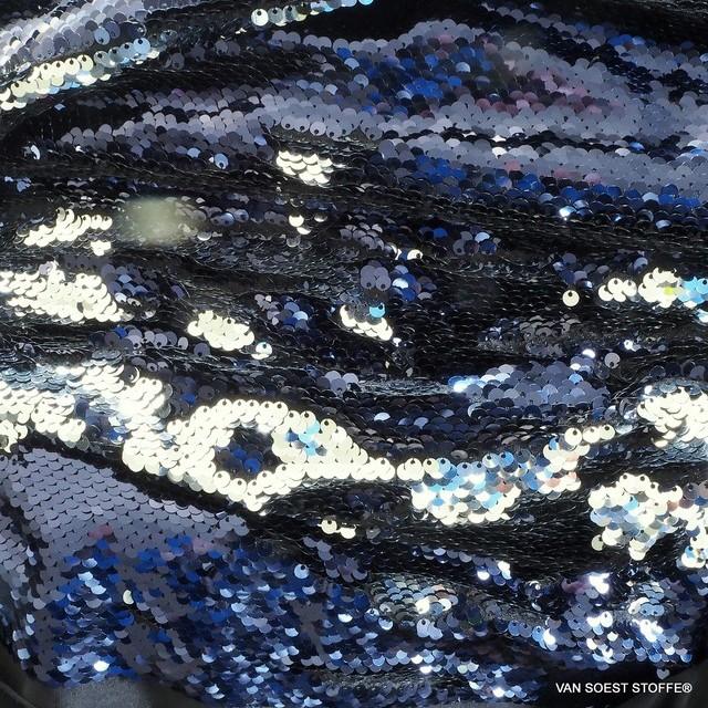 Stretch Zauber Pailletten tief dunkel Burgund - Silber | Ansicht: 0918 Stretch Zauber Pailletten neue Farben