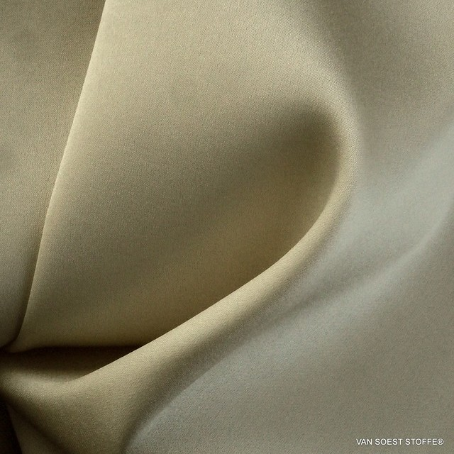 Stretch silk in champagne