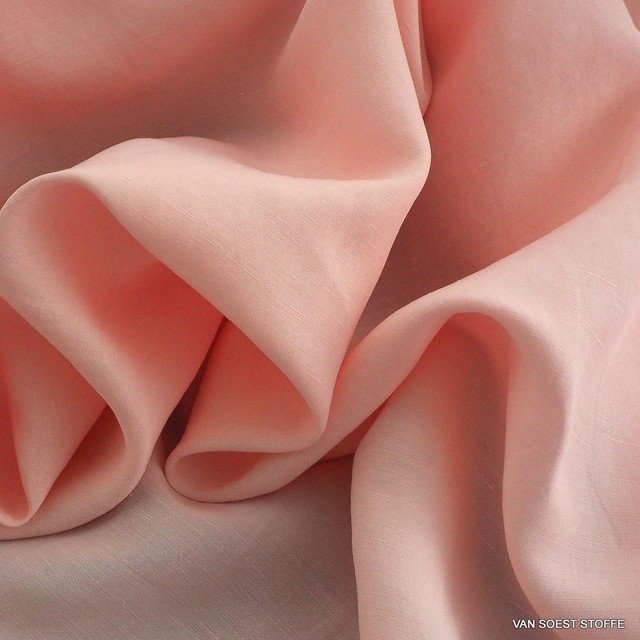 TENCEL®-cupro-linen in Rosé