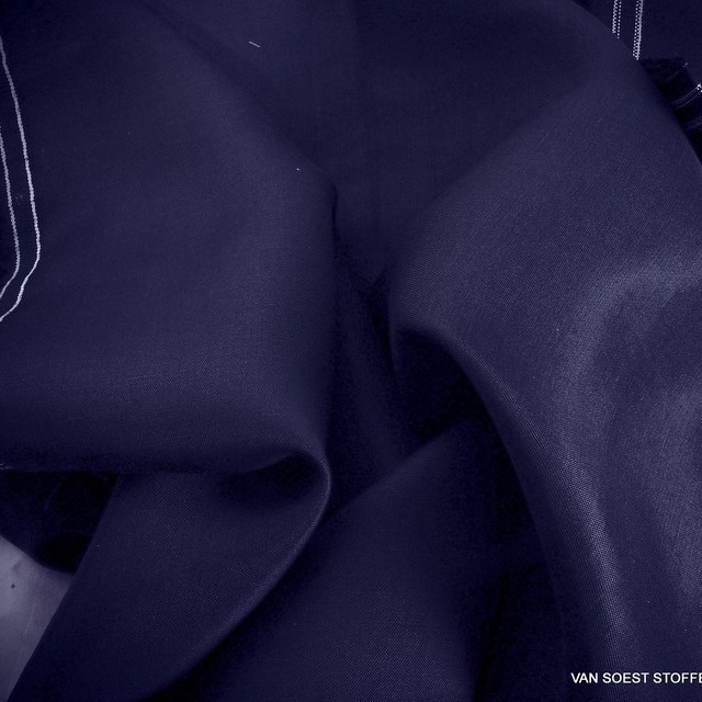 TENCEL™-Cupro-Leinen in Stahlblau als Flachgewebe | Ansicht: TENCEL™-Cupro-Leinen in Stahlblau als Flachgewebe