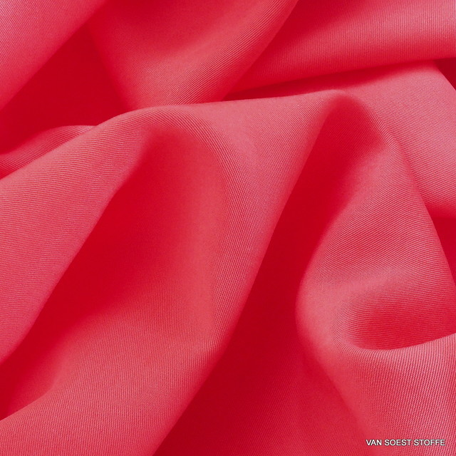 100% TENCEL™ Soft Gabardine in neuem Pink-Orange