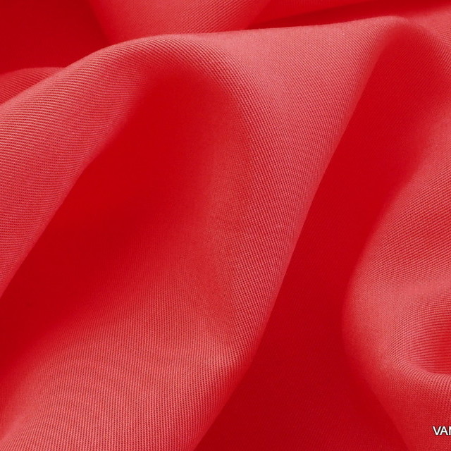 100% TENCEL™ Soft Gabardine in neuem Pink-Orange | Ansicht: 100% TENCEL® Soft Gabardine in neuem Pink-Orange