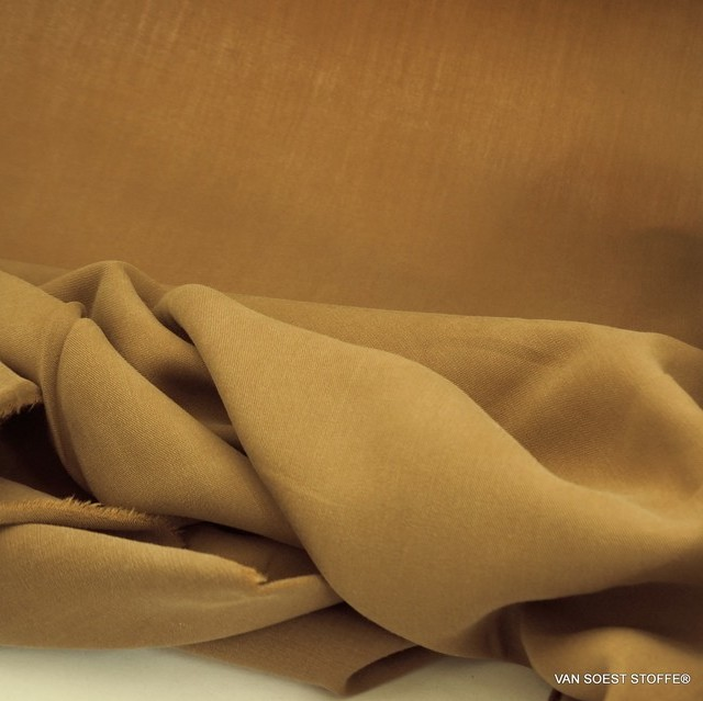 100% Tencel™ Feinköper in Farbe Camel | Ansicht: 100% Tencel™ Feinköper in Farbe Camel