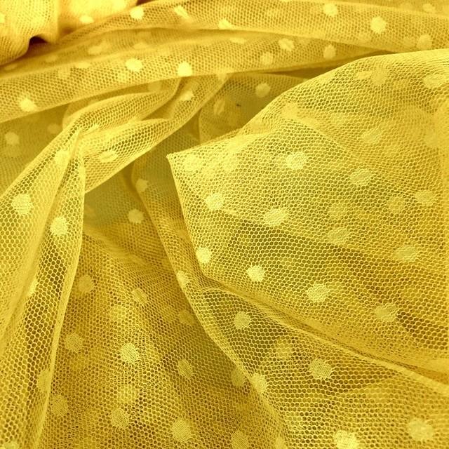 Stretch Tupfen Tüll in der illuminierenden Farbe Gelb