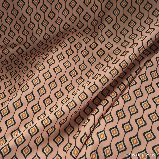 Vintage 50er Retro Druck in Lachs-Orange | Ansicht: Vintage 50er Retro Druck in Lachs-Orange