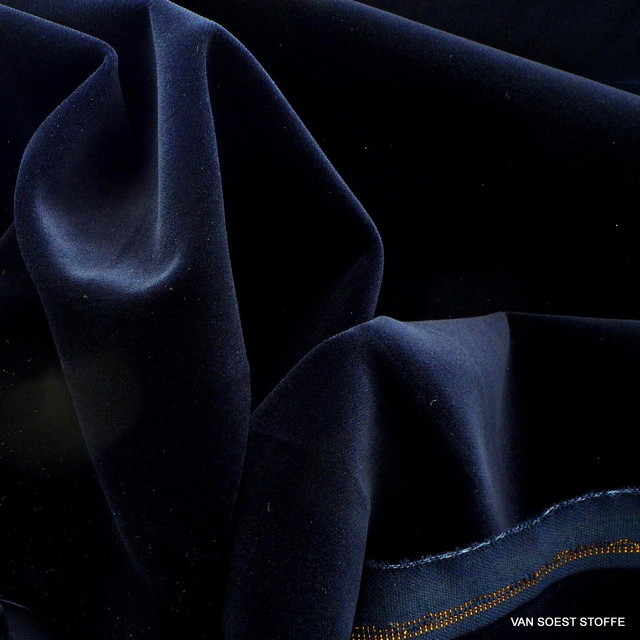 Vintage cotton velvet in darknavy