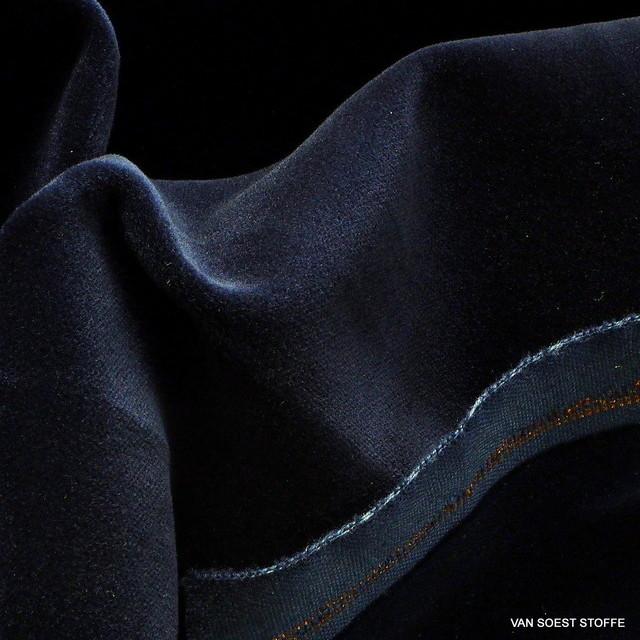 Vintage Baumwoll Samt in Dunkelnavy | Ansicht: Vintage Baumwoll Samt in Dunkelnavy