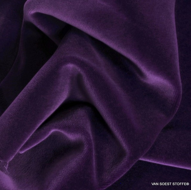 Vintage cotton velvet in purple | View: Vintage cotton velvet in purple