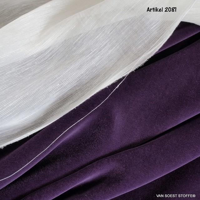 Vintage Baumwoll Samt in Lila | Ansicht: Vintage Baumwoll Samt in Lila
