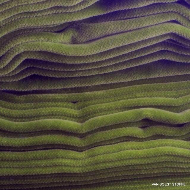 Vintage Baumwoll Samt in Olivgrün | Ansicht: Vintage Baumwoll Samt in Olivgrün