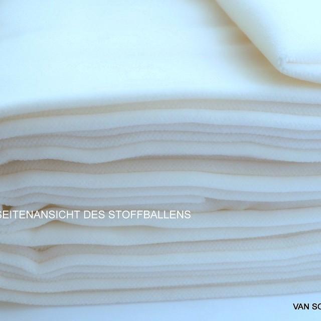 Vintage Baumwoll Samt in Weiß