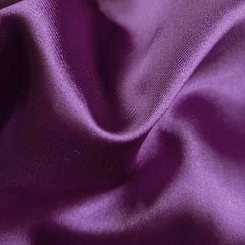 Purple Satin Stretch