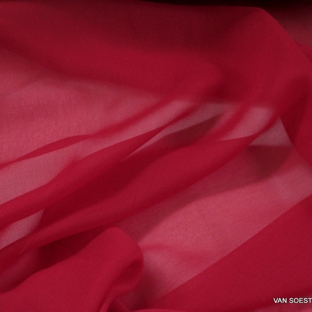 100% viscose georgette in red