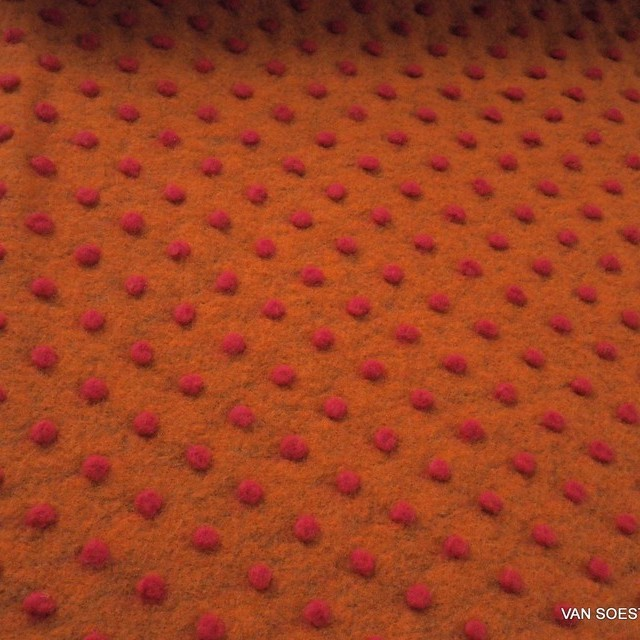 Walk Strick mit Dots in Orange Rot | Ansicht: Walk Strick mit Dots in Orange - Rot