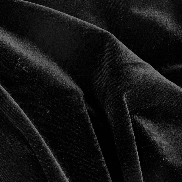 Websamt in Rayon-Nylon in tief Schwarz | Ansicht: Websamt in Rayon-Nylon in tief Schwarz