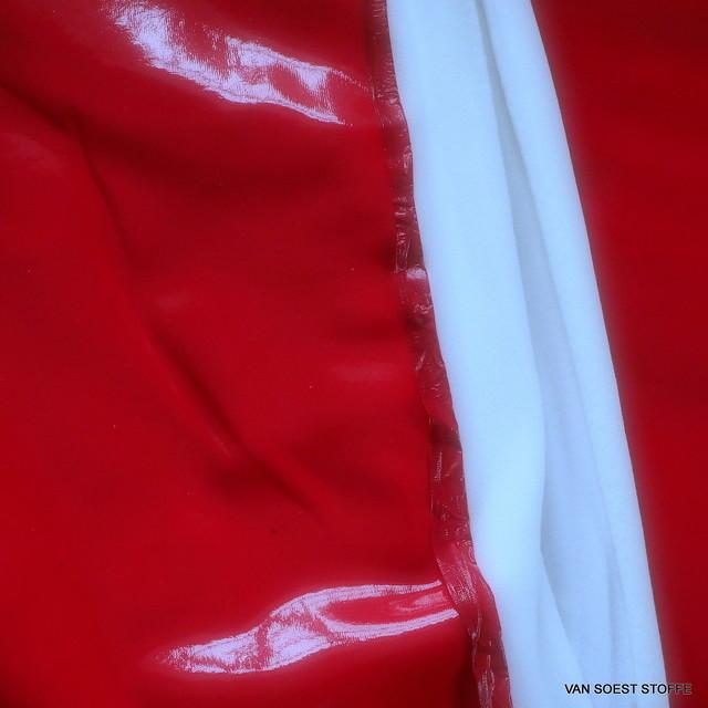 Wetlook soft Vinyl in Farbe Rot mit weicher Abseite | Ansicht: Stretch Wetlook soft Vinyl mit Abseite in Farbe Ro