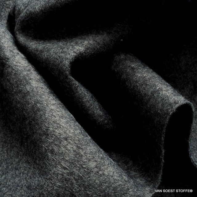 Wool-felt mixture in anthracite grey