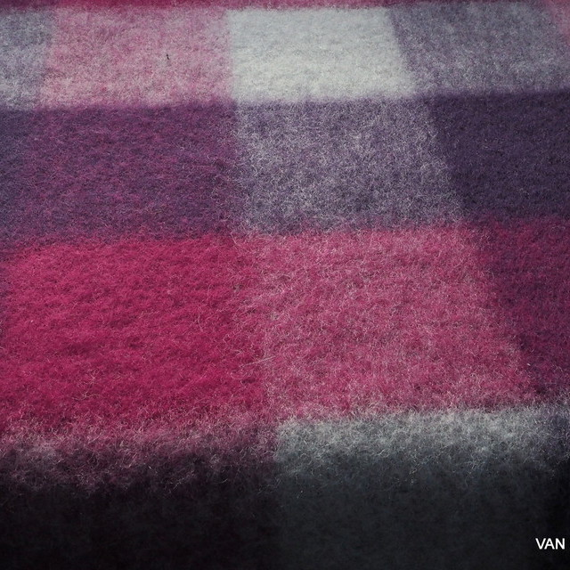 Wool - Mohair check in wine red - magenta gray | View: Wool - Mohair check in wine red - magenta gray