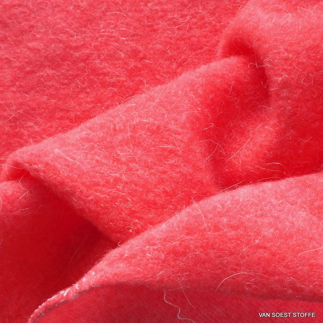 Wool fleece in great pink.