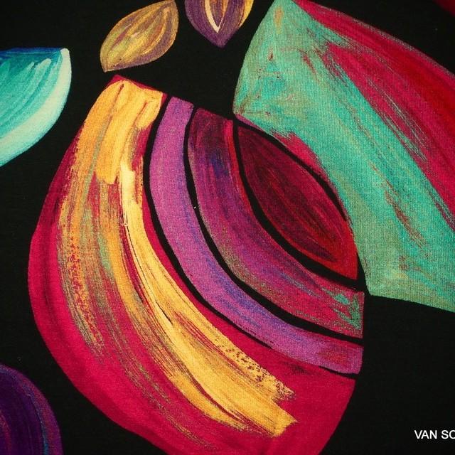 Zazie Farbrausch auf feinem Viskose Stretch Jersey | Ansicht: Zazie Farbrausch auf feinem Viscose Stretch Jersey