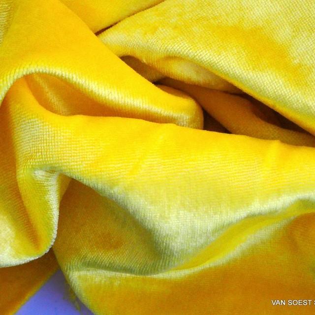 Zitronengelb gewaschener Designer Samt | Ansicht: Zitronengelb gewaschener Designer Samt