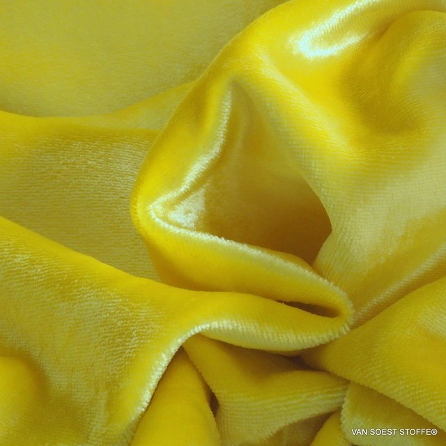 Lemon yellow washed designer velvet