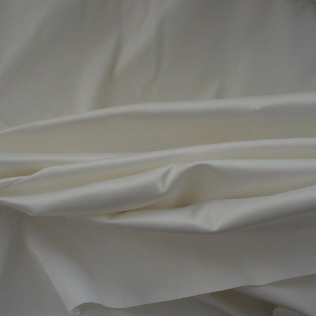 Baumwoll / Poly Stretch Satin in Weiß