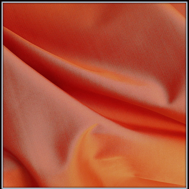 Baumwoll Stretch Cocktail Satin in Orange