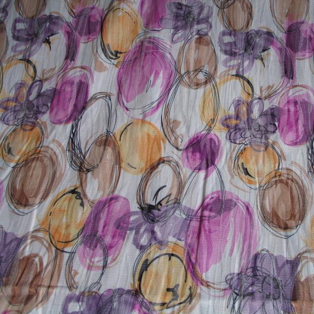 Cotton - Mischung Blumen Stretch Jacquard