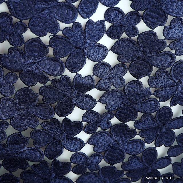 Couture Guipure Blümchen Spitze in 5 Farben-Dunkel Marine