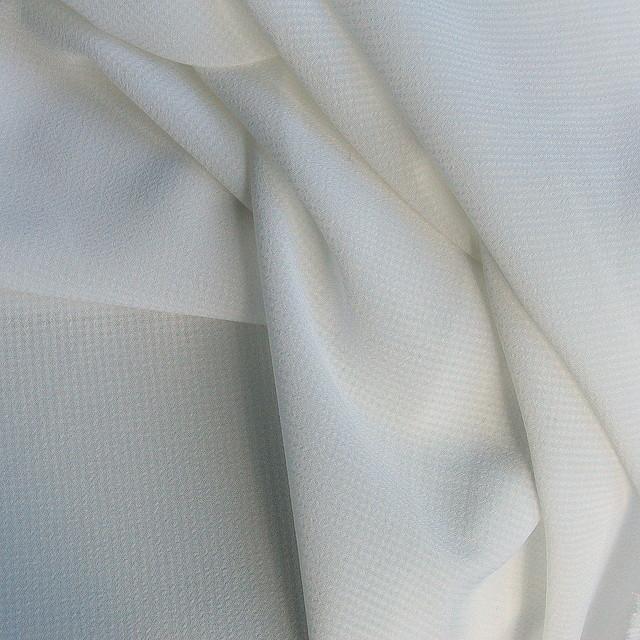 Crepe Georgette Dobby in weiß