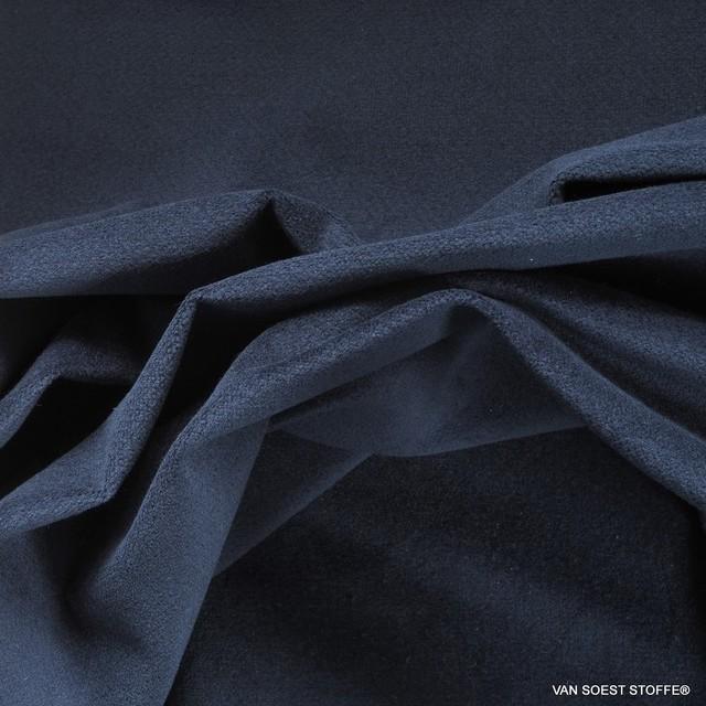dunkel blauer Baumwollsamt mit Stretchanteil