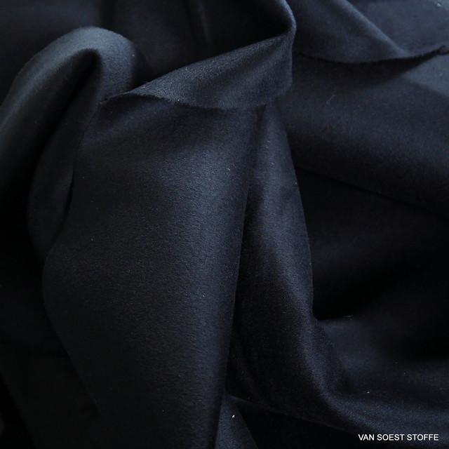 Dunkel Navy farbiger schwerer 100% feiner Woll Stoff