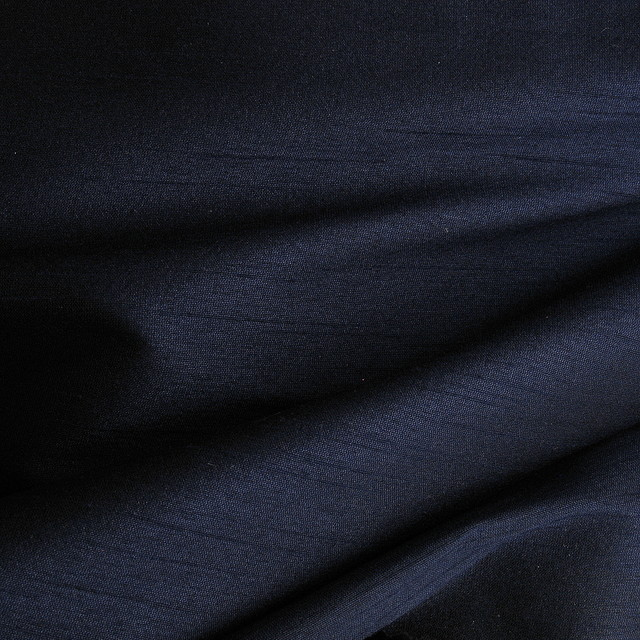 Dupion silk imitation in dark navy