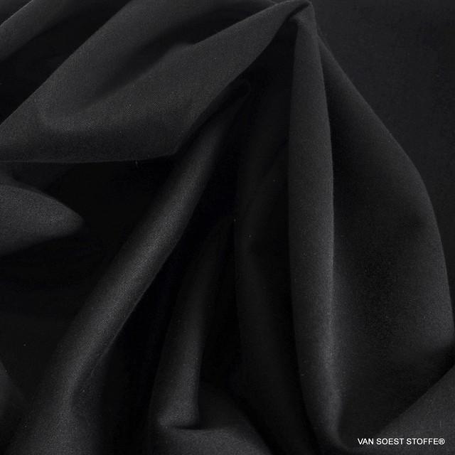 eleganter, matter Satinstretch in Tiefschwarz - Tencel™ Mischgewebe | Ansicht: eleganter, matter Satinstretch in Tiefschwarz - Tencel™ Mischgewebe