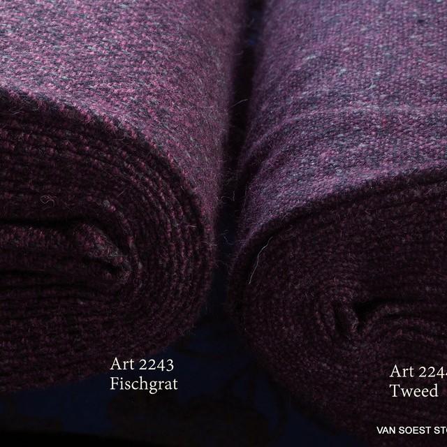 feiner eleganter Bouclé Tweed mit Wolle  -  Lila Grau Hellgrau | Ansicht: feiner eleganter Bouclé Tweed mit Wolle  -  Lila Grau Hellgrau