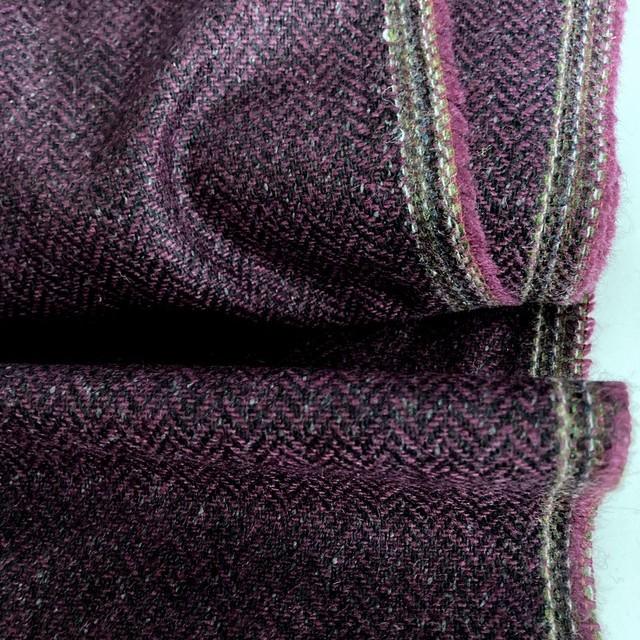 feiner, eleganter Fischgrat mit Wolle - Lila Grau Hellgrau   Ansicht: feiner, eleganter Fischgrat mit Wolle - Lila Grau Hellgrau
