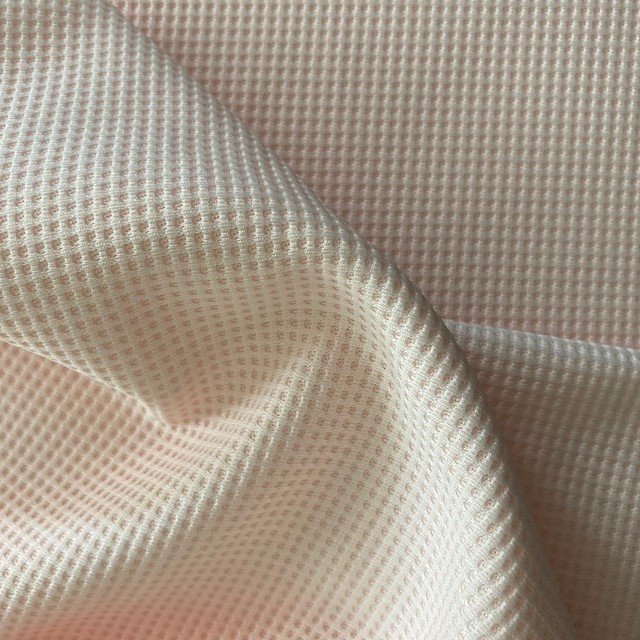 super soft waffle texture in delicate baby pink