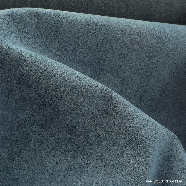 high-quality micropolyamide Alcantara similar in dove blue