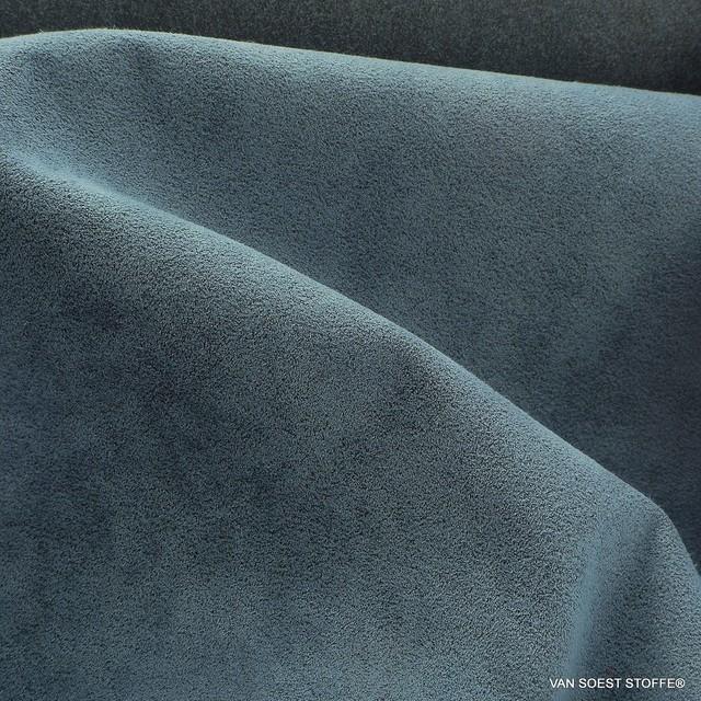 hochwertiger Micropolyamid Alcantara ähnlich in Tauben Blau