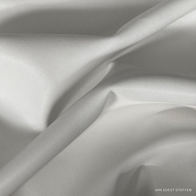 hochwertiges Nappa Lederimitat mit Wildleder Abseite in Weiss