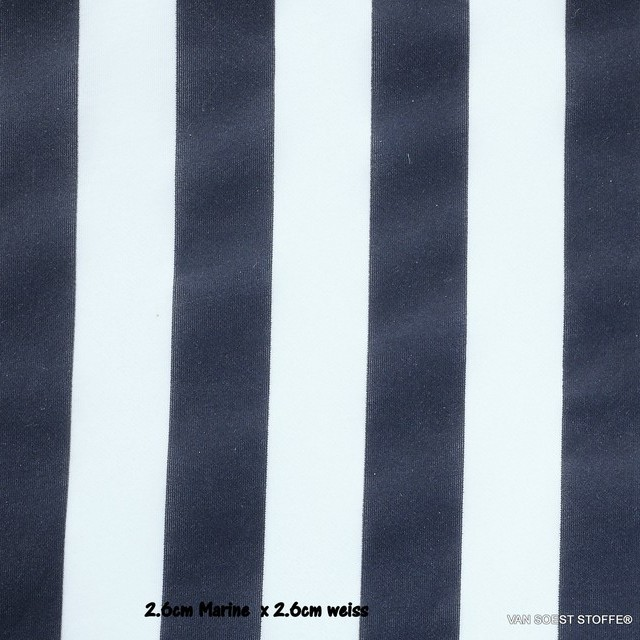 Italian designer block stripes in classic marine blue and white | View: Italian designer block stripes in classic dark blue and white